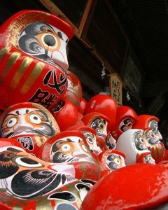 Daruma dolls at Shorinzan temple, Gunma prefecture, Japan